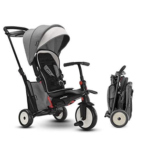 smarTrike STR5 Triciclo Plegable con Carrito Certificado para niños de 1-3 años, Triciclo multietapa 7 en 1 (Gris)