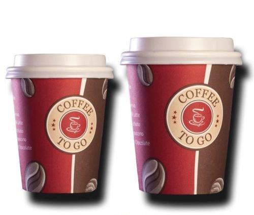 Ol-Gastro-benodigdheden 200 top hard papier 200 ml Coffee to go beker kartonnen beker koffiebeker met deksel TOP