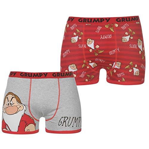 Character Herren 2 Paar Boxershorts Flatlocknähte Print Disney L