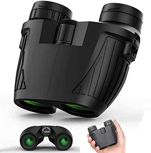 Reflector profesional 12x25 PRISM PRISM Binoculares for adultos, lentes Super BrightFMC de 12 mm, enfoque de alta potencia, con visión clara de la luz débil, for viajes, caza, conciertos y juegos depo