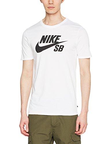 Nike SB Logo tee Camiseta, Hombre, Blanco (White/White/Black), L