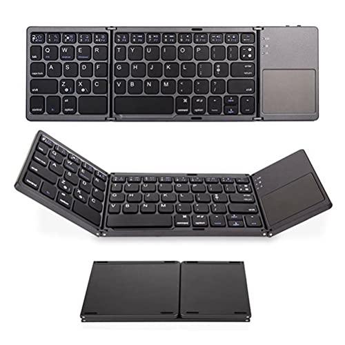 BBABBT Teclado Bluetooth plegable, teclado Bluetooth plegable portátil Mini teclado inalámbrico táctil compatible con Windows IOS Android