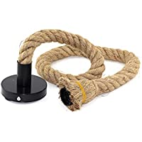 Lámpara Cuerda Vintage, E27 100 cm Rústico Retro Estilo Comedor Restaurante Cafe Iluminación Uso 13390