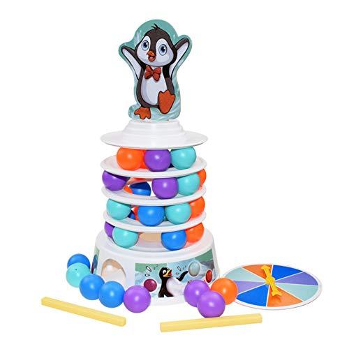 XIANLIAN Juegos de apilamiento, 2021 Penguin Skiing Ball Table Game, 4 Colores Creative Penguin Stacking Toys, Montessori Building Blocks Juego de Mesa para interacción Familiar