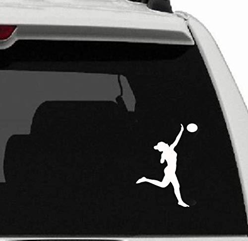 10.1Cm*16.8Cm Mode Volleybal Sport Meisje Sticker Auto Sticker Decor voor auto Laptop Window Sticker