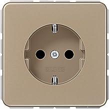 Jung 1520 GB Schuko stopcontact 16 A 250 V Serie CD goud-brons 250 V