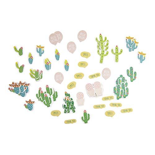 Oblique Unique® 72 Kaktus Kakteen Sticker Selbstklebend Sommer Mexico Aufkleber Selbstklebend für Verzierung Scrapbooking Deko