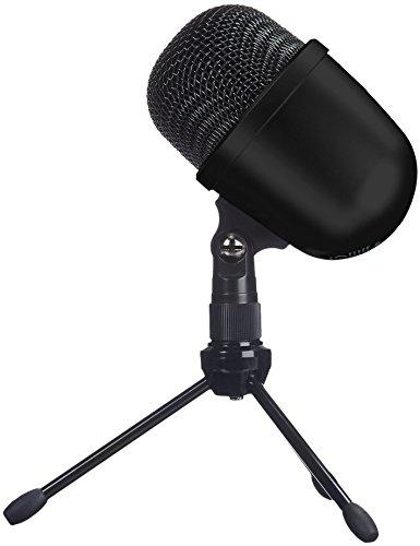 Amazon Basics - Mini microfono a condensatore da scrivania, Nero