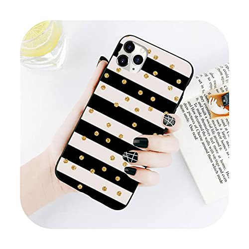 Polka Dots Art Silver Star Phone Case for iPhone 11 12 Mini Pro XS Max 8 7 6 6S Plus X 5S SE XR-A6-For iPhone12 12Pro