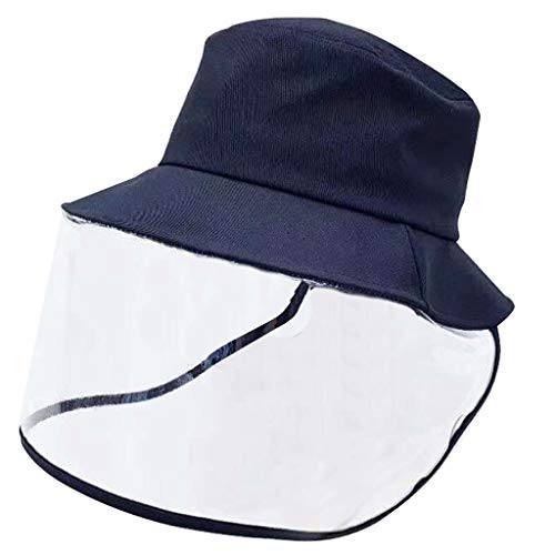Eyes Full Face Protection Anti-Spitting Dustproof Bucket Hat with Strap Face Shield Hat for Kids