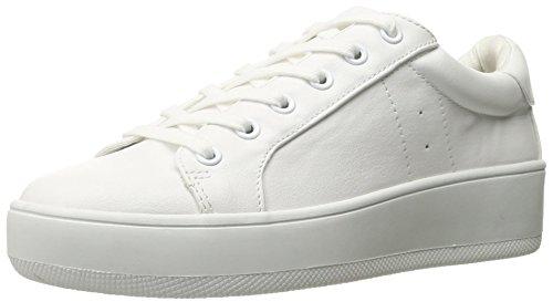 Steve Madden Women's Bertie Fashion Sneaker, White, 8 M US