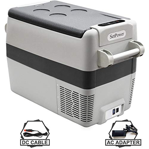 Setpower AJ40 42 Quarts Portable Freezer Fridge 12V Cooler, 0℉-50℉, DC 12/24V, AC 110-240V, Car Fridge Compact Refrigerator, for Truck, Van, RV Road Trip, Outdoor, Camping, Picnic, BBQ, Patio