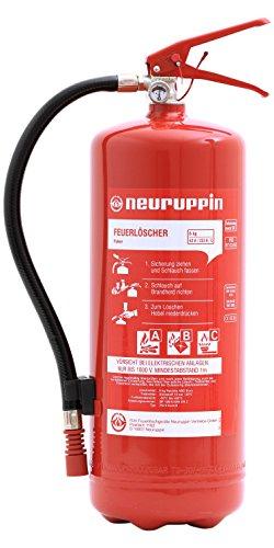 Feuerlöscher 6kg ABC Pulverlöscher PG 6 Euro-S Neuruppin + ANDRIS® ISO-Symbolschild + Prüfnachweis