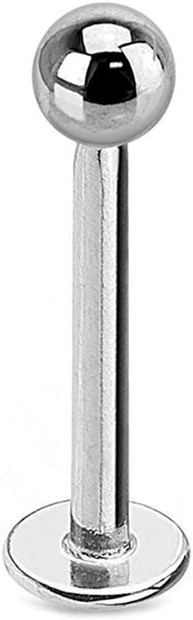 Urban Body Jewelry Internally Threaded Titanium Labret Stud (16G) Length 7/16