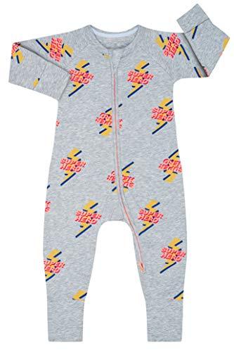Dim 0a0g Pijama Largo para bebés y niños pequeños, Super Héro Gris Chine, 12 Meses