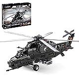 Xshion CaDA Juguete de construcción de helicópteros, CaDA C61005W 989Pcs WZ-10 Aviones Militares Bloques de Construcción Tallos Juguetes - Versión estática