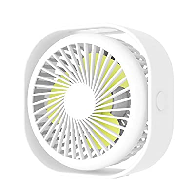 TopMoon-uk Mini USB Desk Fan,with Updated Strong Airflow,3 Speeds,Whisper Quiet, 360°Adjustable for Better Cooling, Perfect Portable Personal USB Fan for Desktop Office or Bedroom Table