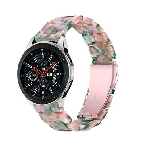 Watch 46 mm Resin Band, Miya System Ltd 22 mm Resina Reemplazo de la Pulsera Correa de Pulsera con Cierre Plegable para Samsung Galaxy Watch 3 45 mm/Gear S3 Frontier/Gear S3 (A03)
