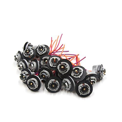 sourcing map 20pcs 1156 Ampoule clignotant Faisceau adaptateur prise 12V-36V pour voiture
