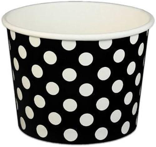 deportes calientes negro Polka Dot Ice Cream Cream Cream Cups 16 oz - 50 count by Beach Party  solo cómpralo