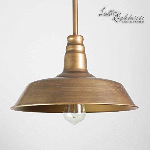 Lincoln - Lámpara de techo (36 cm de diámetro, 2 alturas), color bronce