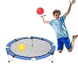 Sportcraft Quickplay Slam Ball Game Set - Volleyball Beach Games, Family Sports/Park, Backyard Outdoor Play & Fun, White, Blue, Model: SOL986
