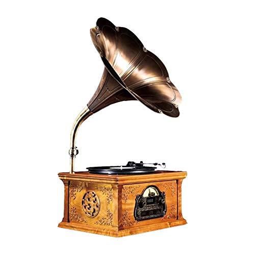 DUTUI Grammophon, Retro-Schallplattenspieler, Holzdekorationen, Nostalgische Einrichtungsgegenstände, Kreative Dekorationen, Handpoliert