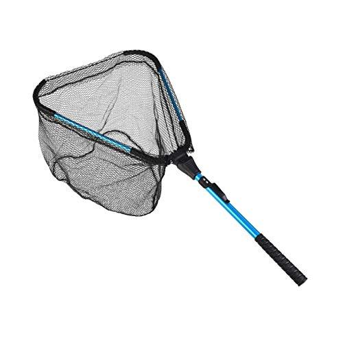 HshDUti Kescher Angeln, Teleskop-Kescher Faltbarer Unterfangskescher, Schwimmendes Fischernetz Angelkescher mit Faltbare Fischernetz, Langlebiges Nylonnetz Angelzubehör für Erwachsene und Kinder