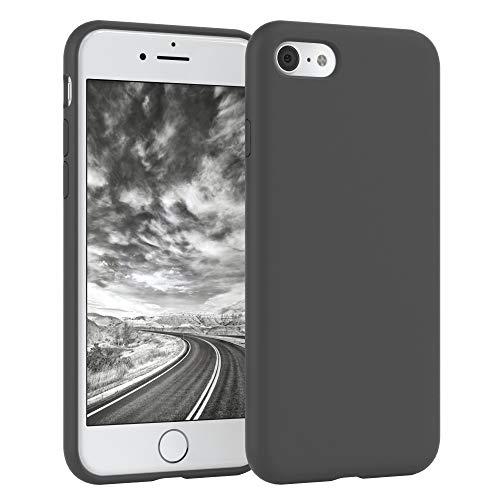 EAZY CASE Premium Silikon Handyhülle kompatibel mit Apple iPhone 7/8, Slimcover mit Kameraschutz & Innenfutter, Silikonhülle, Schutzhülle, Bumper, Handy Case, Hülle, Softcase, Anthrazit