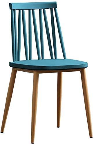 Stuhl Massivholz, Lazy Backrest Hocker, Besprechungsraum/Schreibtisch/Büro/Möbel (Farbe: Weiß, Größe: 63x46x56.5CM) für Office Lounge Dining Kitchen Bedroom