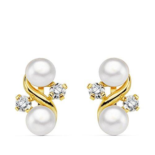 Orecchini oro giallo perle Venezia 18 kt - 1ª comunione bambina