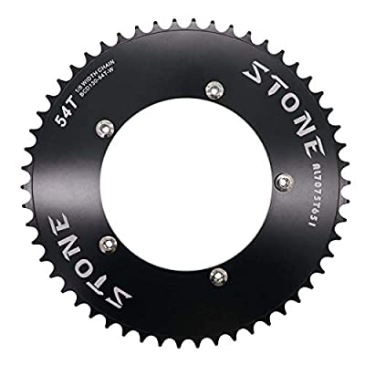 "Stone Track Bike Chainring Fixie 130 BCD 1/8"" Fixed Gear 49T 50 51 52 53 54 56 58 60 Tooth (stonefixie130-48T)"