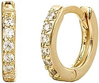 Orecchini da donna Orecchini a cerchio in zircone multicolore Moda rotonda Orecchini a cerchio piccoli Gioielli da sposa p...