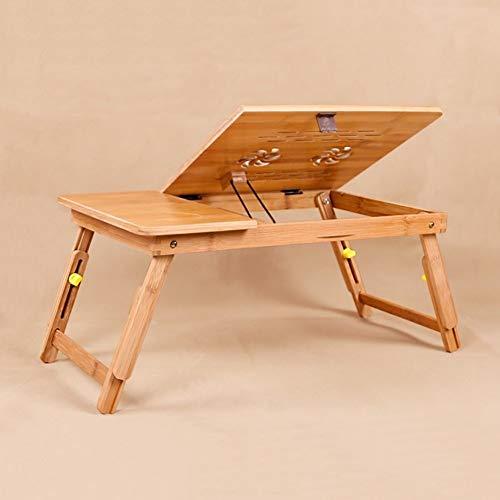 Wangczdz Multifunctioneel bed, van stevig hout, opvouwbaar, draagbaar, om te lezen, plank, milieuvriendelijk, van bamboe