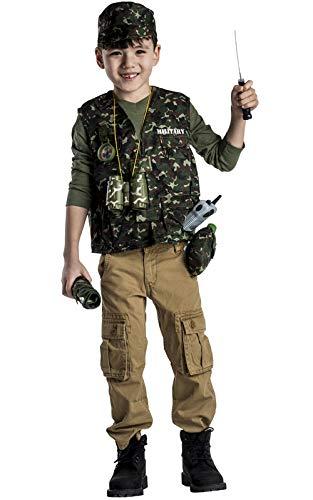 Dress Up America- Set di Costumi da Gioco per Bambini delle Forze Armate Disponibile in Taglia Unica (3-7 Anni) Giochi Militari, Multicolore, età, 702