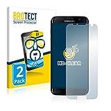 BROTECT Schutzfolie kompatibel mit Samsung Galaxy S7 Edge (2 Stück) klare Bildschirmschutz-Folie
