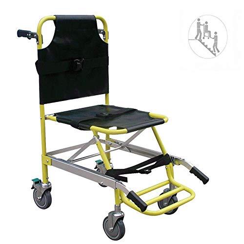 GFF Silla de Escalera Silla de Escalera de elevación médica para evacuación de Bomberos de Ambulancia con Hebillas de liberación rápida - Capacidad de Carga: 400 LB