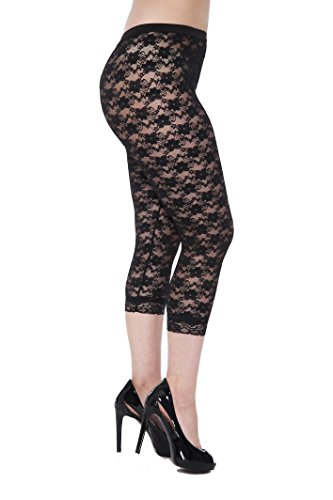 Women's Lace Capri Leggings / Tights for 80s Costume Party