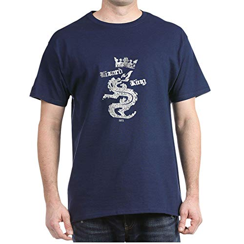 CafePress Lizard King 1971 Doors Rock Dark T Shirt 100% Cotton T-Shirt Navy