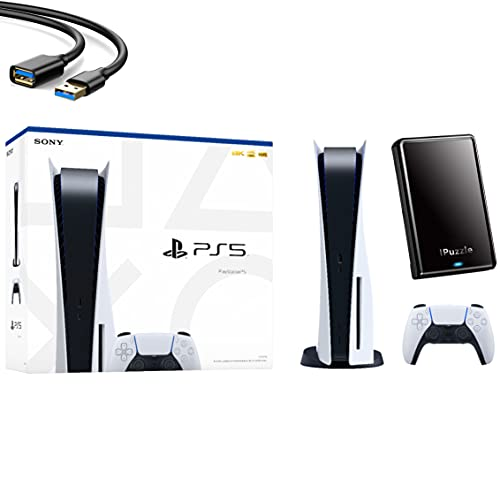 Sony PS5 Playstation 5 Console Disc Version - Wireless Controller, x86-64-AMD Ryzen Zen 8 Cores CPU,...