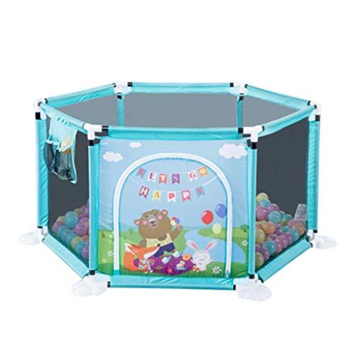 Clôture de jeu pour Enfants Clôture De Protection pour Enfants en Intérieur Aire De Jeux Intérieure Petite Piscine À Balles Aire De Jeux pour Enfants (Color : Blue, Size : 128x128x66.5cm)