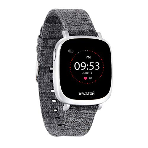 X-WATCH 54038 IVE XW FIT Fitness Uhr – Fitness-Coach – Schrittzähler - Schlafanalyse – Workout- & Pulstracker – Kalorientracker f. Android & iOS