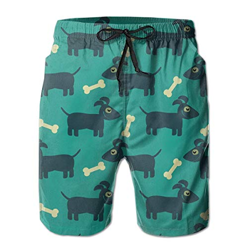 Funny Z Mens Board Shorts Dog and Bone Quick Dry Swim Surf Trunks, Taille XXL