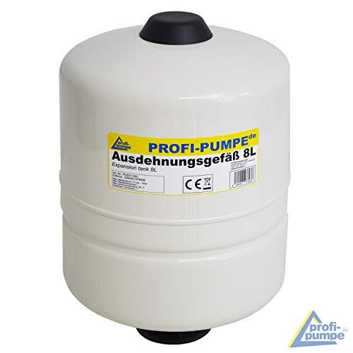 Ausdehnungsgefäß 2L / 8L Drucktank für Pumpe Pumpensteuerung Membrankessel Druckbehälter für Pumpensteuerung INVERTER, Durchflusswächter (8L)