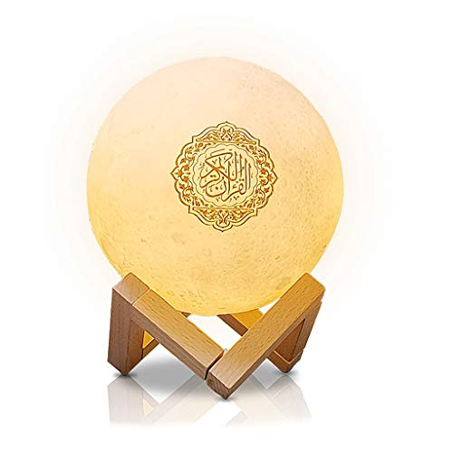 N/A/ Bluetooth Quran Speaker Moon Lamp with Stand Smart APP Control Loudspeaker