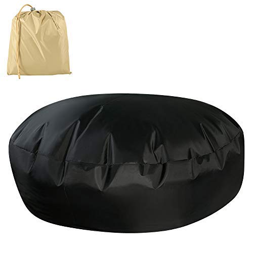 Welcomefee Round Garden Table Cover, Waterproof Dustproof Garden Day Bed Cover 210D Oxford Fabric Patio Furniture Protective Cover with Storage Bag - 228x83cm