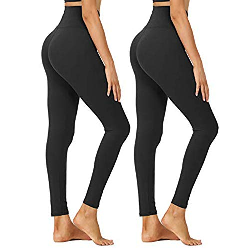 (50% OFF) 2 Pack High Waisted Leggings $8.50 – Coupon Code