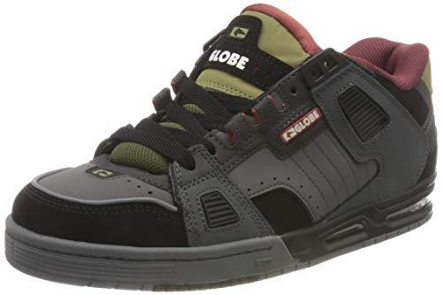 Globe Sabre, Zapatilla de Skate Hombre, Carbón/Negro/Hierro, 45 EU