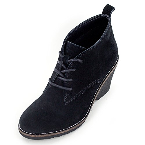 WHITE MOUNTAIN 'Lambert' Women's Bootie, Black Suede - 6.5 M