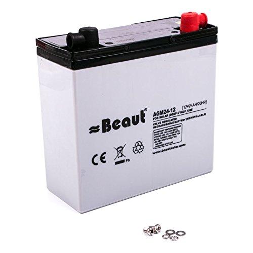 Solar Batterie Beaut 24 A 12 Volt AGM 181 x 77 x 170 mm ideal für Wohnwagen und Wohnmobil